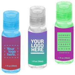 1 Oz Custom Round Hand Sanitizer