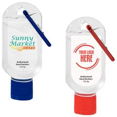 1 Oz. Hand Sanitizer With Carabiner