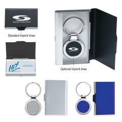 2-In-1 Key Tag/Business Card Holder