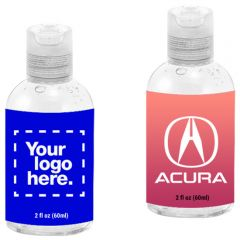 2 Oz Custom Round Hand Sanitizer