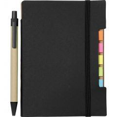 4 Inchx 6 Inch Recycled Sticky Notebook With Pen