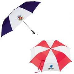 58 Inch Vented Auto Open Folding Golf Umbrella