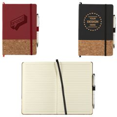5.5 Inch X 8.5 Inch Lucca Cork Hard Bound Journalbook