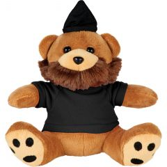 6 Inch Hipster Plush Bear With Shirt