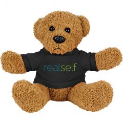 6 Inch Rag Bear With Shirt