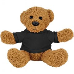 8 Inch Rag Bear With Shirt