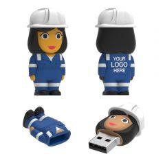 Labourer USB Flash Drive Female