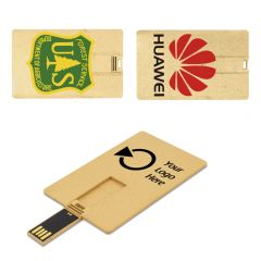 Recycled Plastic Credit Card Flash Drive