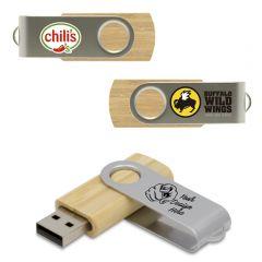 Wooden Swivel USB Drive