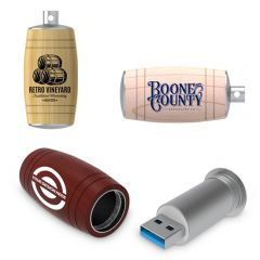 Barrel Shaped USB Flash Drive