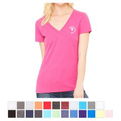 Bella Canvas Women's Deep V-Neck Jersey Tee