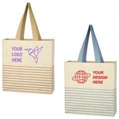 Dash Jute Tote Bag