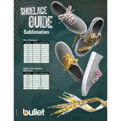 Full Color Shoelaces - 3/4 Inch W X 54 Inch L