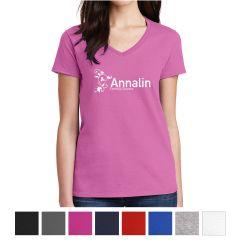 Gildan Ladies Heavy Cotton 100% Cotton V-Neck T-Shirt
