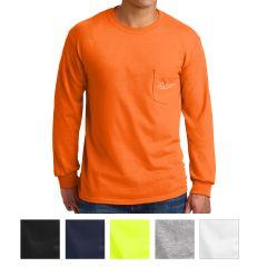 Gildan Ultra Cotton Long Sleeve T-Shirt With Pocket