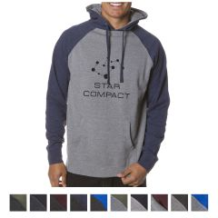 ITC Men's Raglan Hooded Pullover Sweatshirt