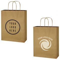 Kraft Paper Brown Shopping Bag - 10 Inch X 13 Inch