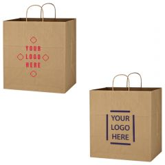Kraft Paper Brown Shopping Bag - 14 Inch X 15 Inch