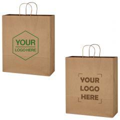 Kraft Paper Brown Shopping Bag - 16 Inch X 19 Inch