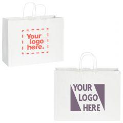 Kraft Paper Shopper Bag White