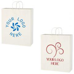 Kraft Paper White Shopping Bag - 16 Inch X 19 Inch