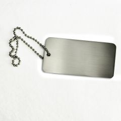 Large Silver Metal Hangtag
