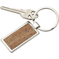 Metal And Cork Keychain