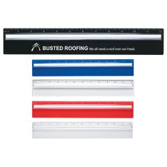 Plastic 12 Inch Ruler With Magnifying Glass