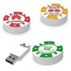 Poker Chip Shaped USB Flash Drive