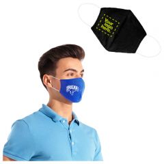Printed Cotton Fitted Face Mask With Filter Pocket
