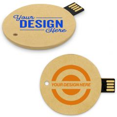 Recycled Paper Disk Flash Drive