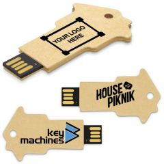 Recycled Paper Key Flash Drive