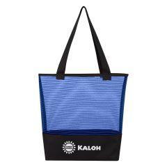 Sheer Mesh Pinstripe Tote Bag