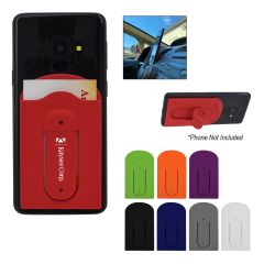 Silicone Vent Phone Wallet With Stand