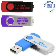 Swivel USB Drive Rush USA Print