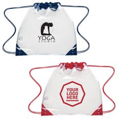Touchdown Clear Drawstring Backpack