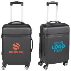 Two Tone Hardside Brushed Metallic 19 Inch Luggage