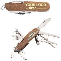 Wooden 13-Function Pocket Knife