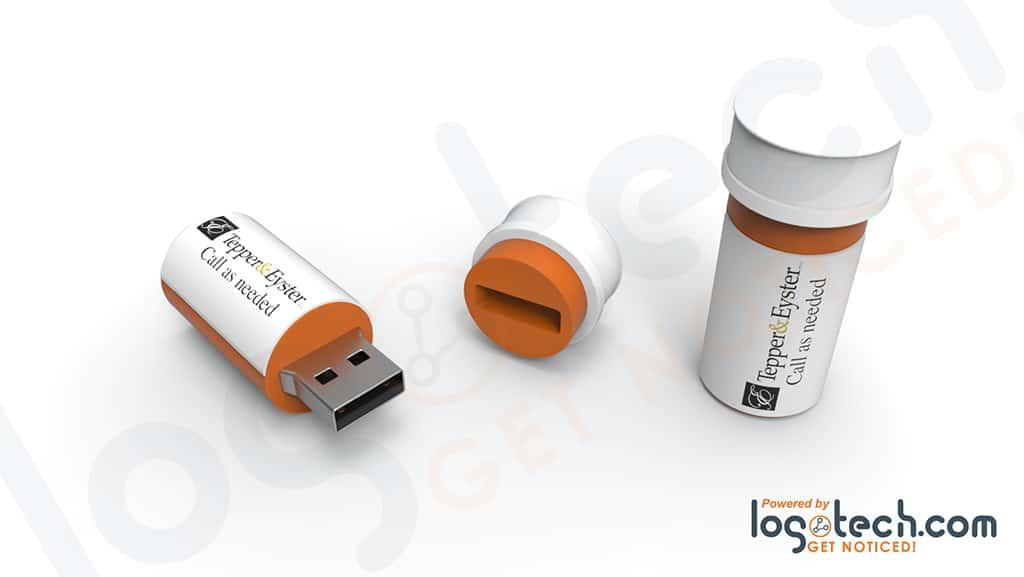 Prescription Bottle USB Flash Drive
