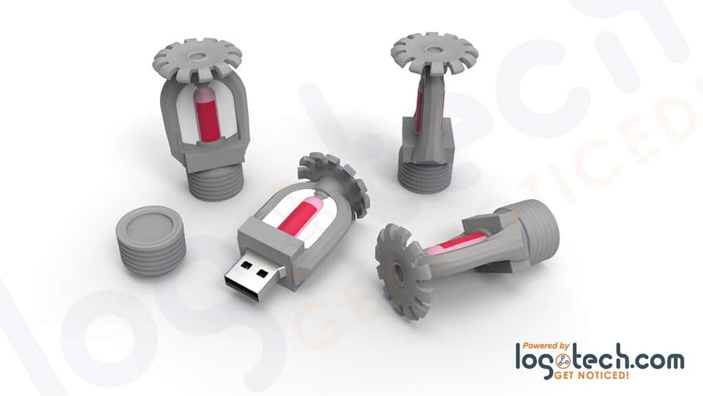 Fire Sprinkler USB Flash Drive