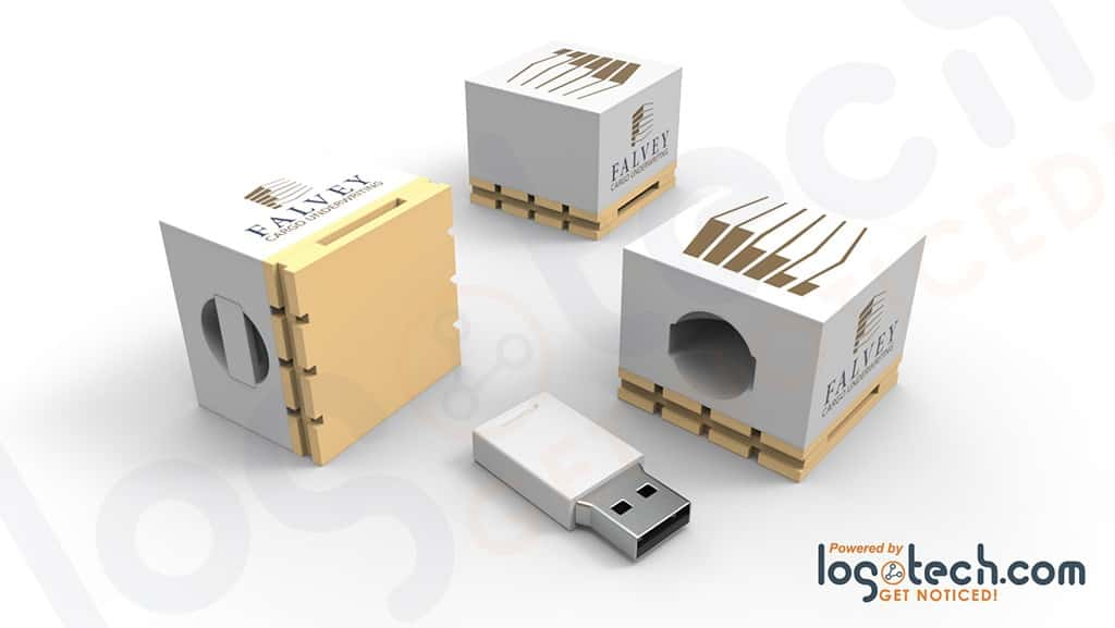 Shipping Container with Pallet USB Flash Drive