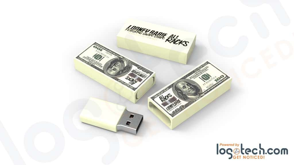 Stacked $100 Dollar Bills USB Flash Drive