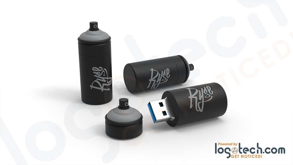 Spray Paint USB Flash Drive
