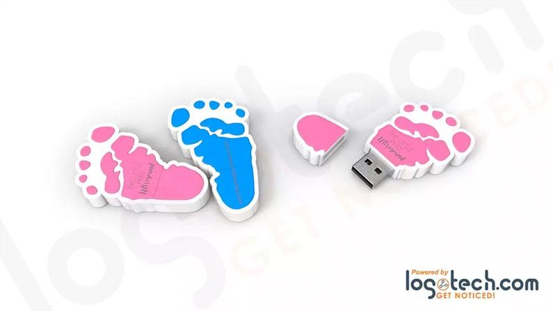 Custom Foot Print USB Flash Drive