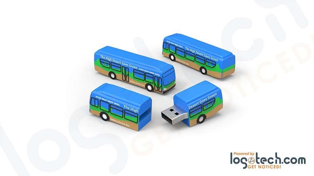 2D, 3D Bus USB Flash Drives