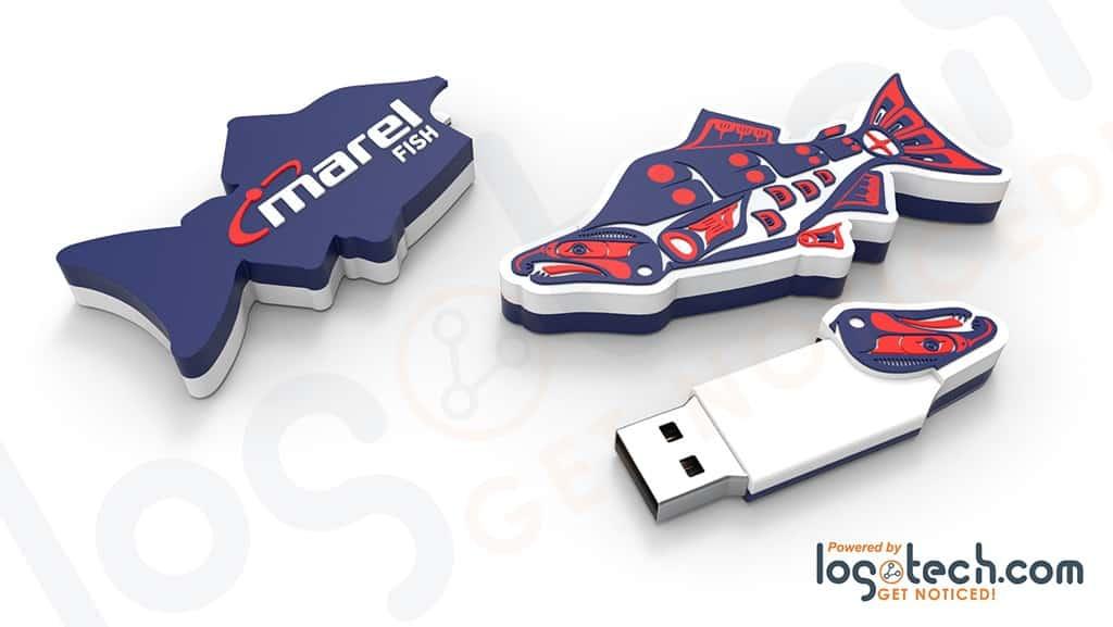 Salmon USB Flash Drive
