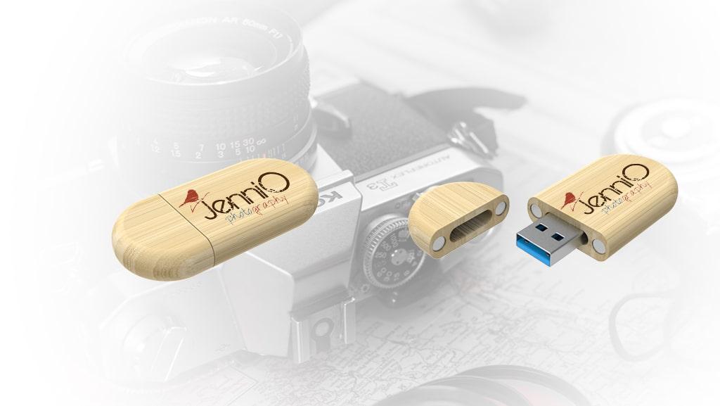 Bamboo Flash Drives for Jenni O. Photography