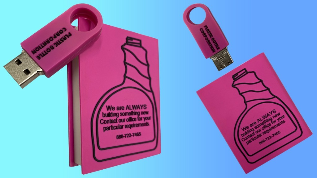 Custom USB Flash Drive for Plastic Bottle Corp