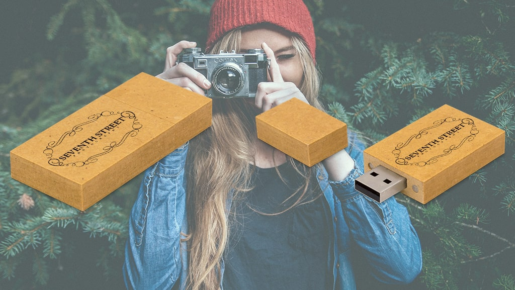 Recycled Paper USB Flash Drives for Seventh Street Photography