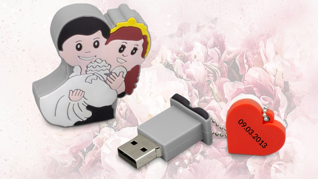 Wedding Themed USB Flash Drives by Logotech.com